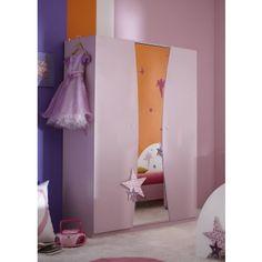 kindergarderobekast girly star 3 deurs