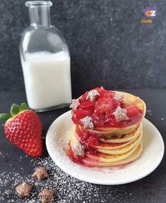 Brunch, San Valentino, Mamma, Panna Cotta, Pancakes, Ethnic Recipes, Dulce De Leche, Pancake, Crepes