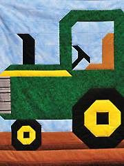 Tractor Quilt Pattern from Annie's Craft Store. Order here: https://www.anniescatalog.com/detail.html?prod_id=104659&cat_id=1430