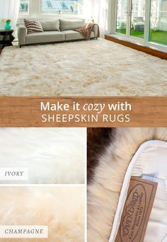 Genuine Australian sheepskin rugs add comfort and luxury to any room