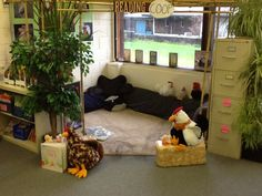 I love to create different, fun spaces in my classroom for children to read, read, read! Nothing better than cuddling with a stuffie and reading. Other spaces have been: the reading lair, the reading igloo, the reading doghouse, the reading garden, and the original...the reading hut which I saw on Pinterest!