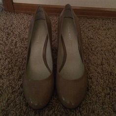 Nude heels Nine West nude heels never worn NO TRADES Nine West Shoes Heels