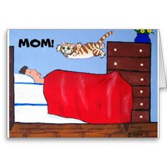 Shop Fun Mothers Day Cat Card created by J_Ellison_Art. Personalize it with photos & text or purchase as is! Best Mothers Day Cards, Great Mothers Day Gifts, Funny Mothers Day, Happy Mothers Day, Special Gifts, Mother's Day Greeting Cards, Cat Cards, Mom And Grandma, Mother And Father