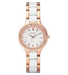 d6762e598fd DKNY Ny8141 Rose Gold And Ceramic Watch.  dkny  womens fashion watches  White Ceramics