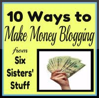 Six Sisters' newest eBook: 10 Ways to Make Money Blogging. We share in this book the top ways we have been able to turn our blog into a source of income for 7 people! SixSistersStuff.com #blogging #eBook Only $3.99