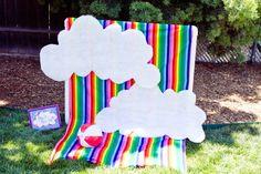 Photo backdrop at a Rainbow Party #rainbowparty  #backdrop