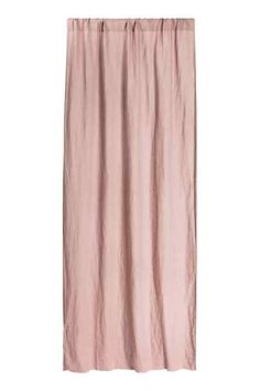 Washed linen curtain length