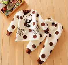 e95981ea626b 2018 Newborn New Baby Minnie Cartoon Padded Suits Sets Home Children  Clothing Baby Kids Girls Boys Cute Cotton Top+Pants 0 4y Pack D0056 From  Jacyfengwu