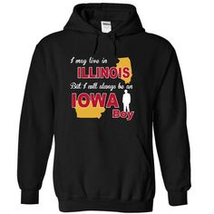 Iowa Illinois Boy TShirt v1 - #tee ball #awesome hoodie. CHECK PRICE => https://www.sunfrog.com/LifeStyle/Iowa-Illinois-Boy-TShirt-v1-4668-Black-4359230-Hoodie.html?68278