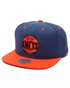 Mitchell   Ness - New York Knicks Denim Harry 2 Tone Snapback Cap Gorras 826c412f374