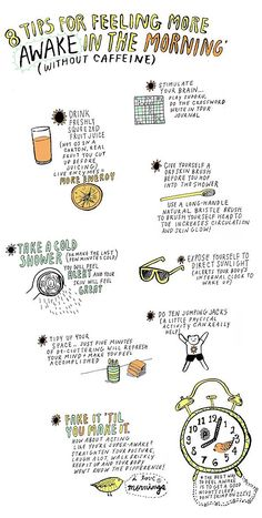 8 tips to feel awake in the morning... becoming a morning person is a tough task.. challenge accepted