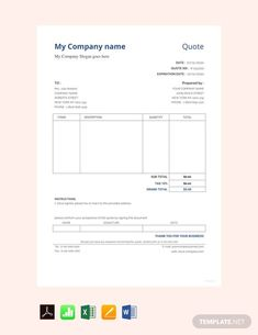 FREE Sample Quotation Template - PDF | Word (DOC) | Excel | Apple (MAC) Pages | Apple Numbers | Template.net Template Free, Quote Template, Receipt Template, Invoice Template, Payroll Template, Dashboard Template, Coupon Template, Planner Template, Quotation Sample