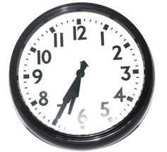 Large Retro Clock Wall Clock Vintage Clock by AntiqueAlchemyShop, $40.00