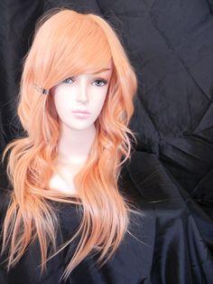 Love this color hair!!!!!!! Princess Peach / Honey Strawberry Peach Blonde / Long Layered Wig.