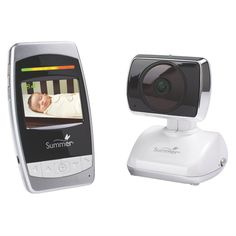 """Summer Infant Ultra Sight Pan, Scan & Zoom 2.5"""" Color Video Baby Monitor, White/Black"""