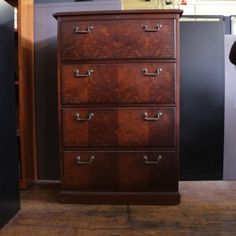 Wooden Lateral File Cabinets 4 Drawer