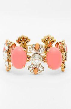 Rosy stones n brilliant crytals cluster, ultra femenina,  bracelet, juicy couture @ Nordstrom