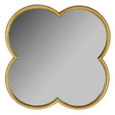 Quatrefoil Mirror Gold Finish 23