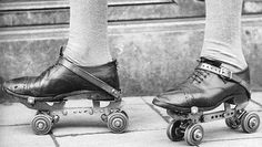 """Bela Lugosi's Roller Skates.  Because Lugosi never learned to drive he got around Hollywood on roller skates. Vampira describes her first meeting with Bela: """"I was a young girl window-shopping on Hollywood Boulevard. I was bending low tosee the detail of some shoes and someone whizzed around the corner on rollerskates, almost bumped my fanny and crashed into me. 'Pardon me,' said he, and 'Pardon me,' said I. He was wearing an Ascot cravat and a beret. It was Bela Lugosi on rollerskates."""""""
