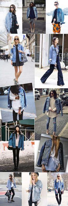 Tendência: Oversized Jeans Jacket