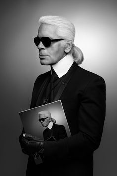 Karl Lagerfeld Self-portrait 2013