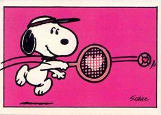 Snoopy tennis love