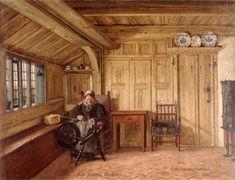 """Dörns in Klockries"",   Jessen, Carl Ludwig, 1866,  Ölgemälde / Leinwand| Museen Schleswig - Holstein & Hamburg"