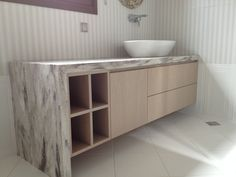 Bathroom l private house l construction by Petsis l corian by dupont Corian Dupont, Double Vanity, Construction, Bathroom, House, Building, Washroom, Bath Room, Bathrooms