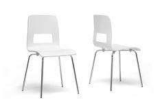 Baxton Studio Greta White Modern Dining Chair (Set of 2) | Wholesale Interiors