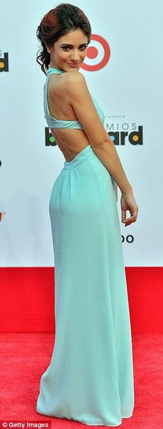 Sol Rodriguez stunned in an aquamarine column gown