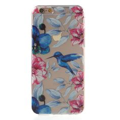 Shop4 - iPhone 6 / 6s Hoesje - Zachte Back Case Colibri Transparant | Shop4Hoesjes
