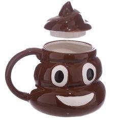 Coffee Cup Fun Collectable Ceramic Poop with Lid Emotive Mug Unusual Gift Ideas…