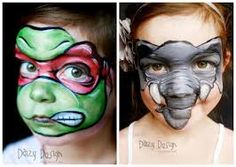 Maquillaje facial niños de animales. Animals kids make up