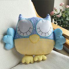 Sleeping owl pillow. Подушка-сплюшка совп