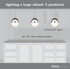 Smart Kitchen Lighting Ideas & Tips all in the details: ceiling fixtures – Circa Lighting kitchen island pendant lights Kitchen Island Lighting, Kitchen Pendant Lighting, Kitchen Pendants, Island Pendants, Island Pendant Lights, Pendant Lamps, Cabinet Lighting, Smart Kitchen, Dad's Kitchen