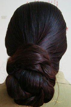 long hair bun images - Google Search