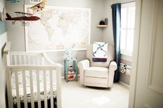 Vintage Airplane Nursery Reveal