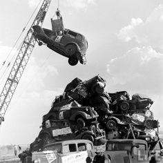 casse auto dans les années 1940-1950