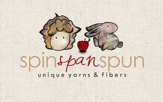 Shop for on Etsy, the place to express your creativity through the buying and selling of handmade and vintage goods. Sheep Logo, Watercolor Red, Gift Of Time, Custom Logos, Logo Inspiration, Logo Branding, Spinning, Cowl, Bunny