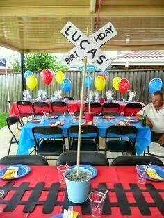 """Photo 12 of Thomas the Train / Birthday """"Thomas Birthday"""" . Apr Photo 12 of Thomas the Train / Birthday """"Thomas Top Thomas Thomas Birthday Parties, Thomas The Train Birthday Party, Trains Birthday Party, Birthday Party Tables, Birthday Fun, Birthday Ideas, Chuggington Birthday, Third Birthday, 3 Year Old Birthday Party"""