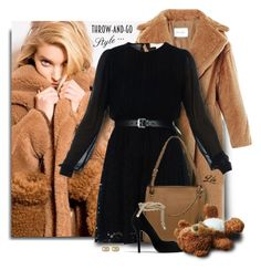 """""""Furry Textures - Teddy Bear Coat"""" by breathing-style ❤ liked on Polyvore featuring MaxMara, MICHAEL Michael Kors, Michael Kors and Gucci"""