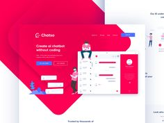 A landing page for a chat bot app, chat bots can be used to take a lot of the grunt work out of customer service, with AI making tracks in the tech world we will see a lot more of this kind of auto...