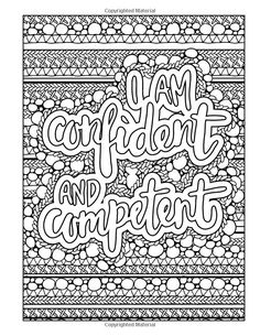 Inspirational Quote Coloring Page Custom Printable Wall Art I Am Awesome