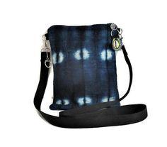 Bag Blue Indigo Native American Style Boho Tribal African Tie Dye  Mud Cloth Organic Crossbody Handmade Black Panther Style Gifts For Women