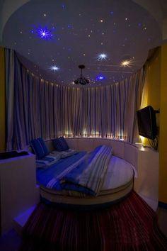 Starry sky bedroom.