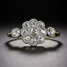 Antique Diamond Cluster Ring - 10-1-6361 - Lang Antiques