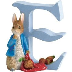 Beatrix Potter Alphabet Letter E Peter Rabbit with Onions Figurine