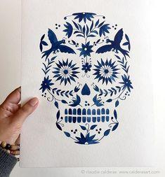 Calavera Otomí / Otomi Skull (claudia calderas)