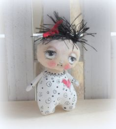 Tiny baby doll hand painted by suziehayward on Etsy, $28.00