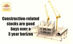 Why market research experts believe that construction related stocks are good buys for a 3 year time horizon?